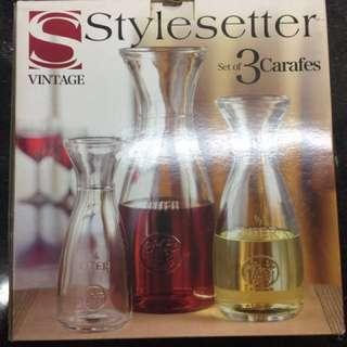 Stylesetter set of 3 carafes