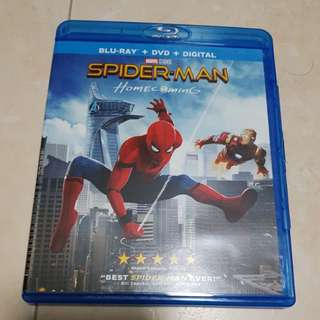 Spider-Man Homecoming Bluray and DVD combo