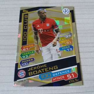 Match Attax Champions League 16/17 - Boateng HC