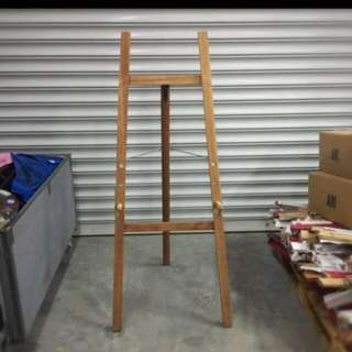 Wooden Easel Stand for Banner or Poster