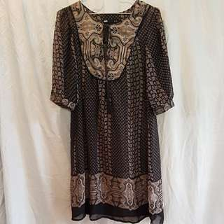 Dotti sheer patterned dress
