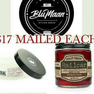 14 dollars only. Blumaan, railcar, imperial pomade
