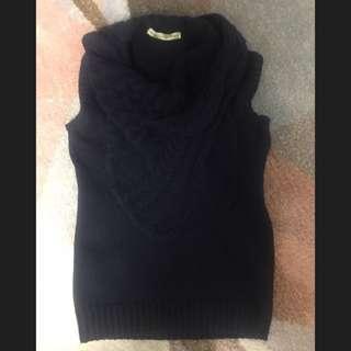 Balenciaga wool knit vest in Navy