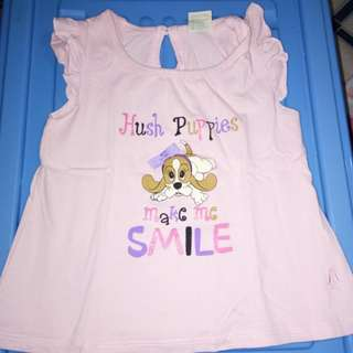 Hush Puppies top for baby girls