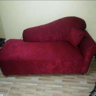 Red Loveseat Sofa (FIXED PRICE NO HAGGLING)