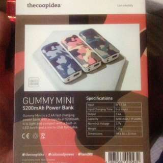 Gummy mini power bank 5200 mah