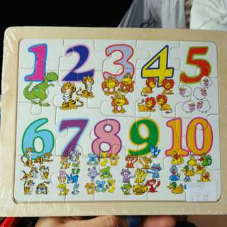 Numerical numbers wooden puzzle