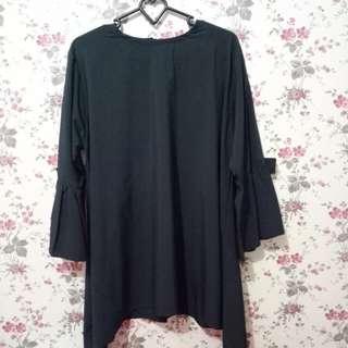 Baju panjang hitam polos