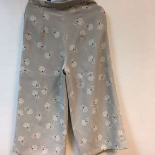 Zara Basic Floral Square Pants