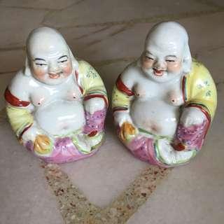 Laughing Buddha 笑佛 Porcelain Figurine