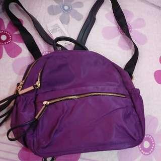 全新 紫色小背包