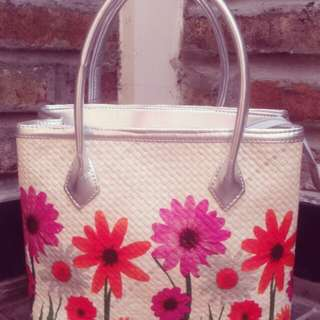 Webe decoupage bag (silver)