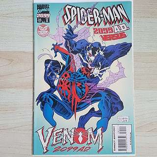 Marvel Comics Spider-Man 2099 Issue 35  Near Mint Condition First Appearance Of Venom 2099 Variant Cover Rare