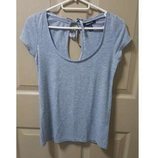 Jennyfer Gray Shirt with Back Bow