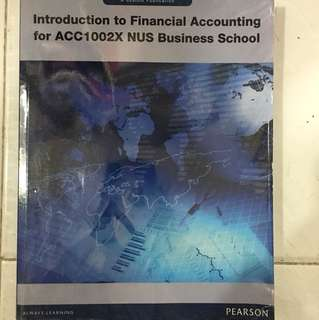Introduction to Financial Accounting for ACC1002X NUS BUSINESS SCHOOL