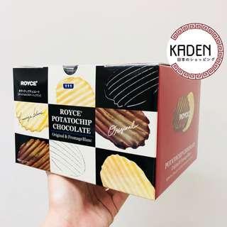 日本代購 Royce 朱古力薯片 2味盒裝版