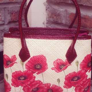 Webe decoupage bag (red)