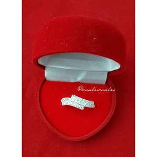 M20 Cincin Silver 925 💍 & Zirconia High Grade Diamond 💎