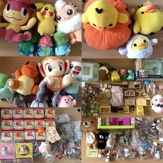 HUGE Plushies Hard Plastic Toys Miniatures Rare Collectibles LOT