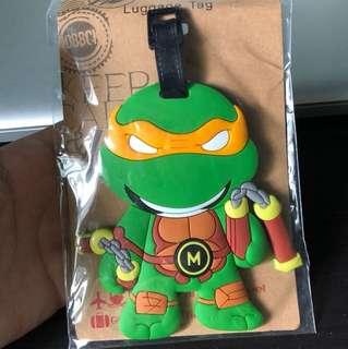 Ninja turtle luggage tag
