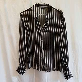 Howard showers sheer striped top
