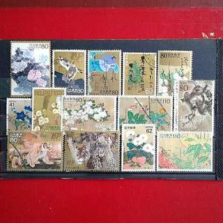Japanese used stamps#2