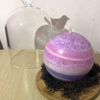 手作禮品🎁 天然香薰蠟燭球 - 紫色