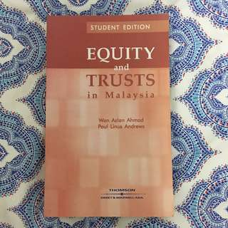 Law Books - Equity and Trusts in Malaysia