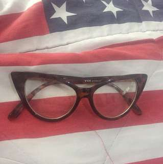 Cat Eye Clear Glasses