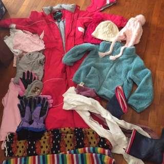 Ski clothing bundle girls 5-6 years
