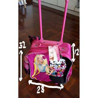 Brand new with tags Barbie trolley bag (original)