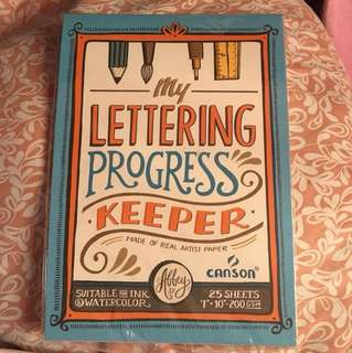 My Lettering Progress Keeper (Made of Real Artist Paper) By Abbey Sy