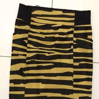 Rok Stripe Kuning-Hitam
