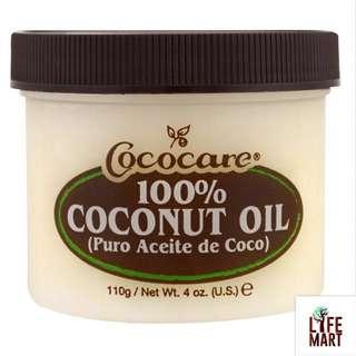 *FREE MAIL* Cococare, 100% Coconut Oil (110g)