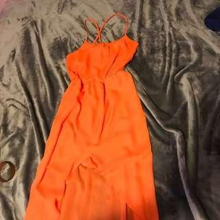 Sheer Orange Dress