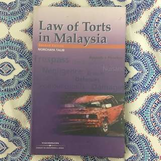 Law Books - Law of Torts in Malaysia