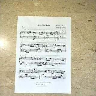 Kiss the Rian piano sheet