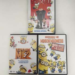 DVD Despicable Me 1 2 and mini movies (all)