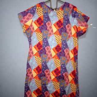 Dress batik abstrak