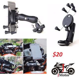 New extra security 6 finger X grip handphone holder for motorcylce phone bicycle ebike escooter