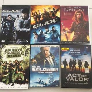 DVD Movies $5 to $10 / title