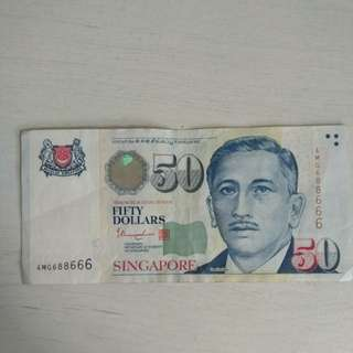 Singapore $50 Note [Circulated]