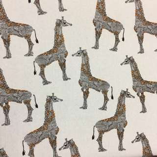 Cute alpaca llama cotton canvas fabric/kain diy cloth
