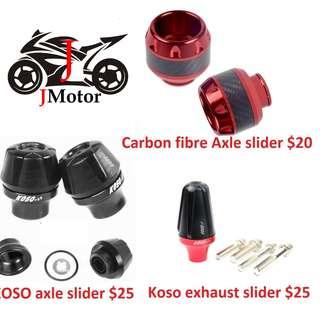 CNC koso Front Axel Slider / Carbon fibre / rear
