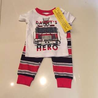 Baby Romper TOP pants daddy's hero bnwt children's place 3 - 6 months