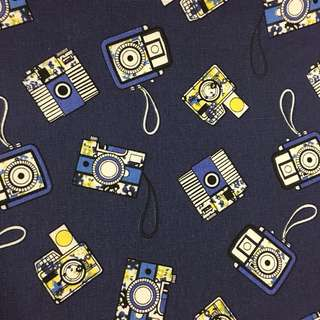 Vintage camera 📷 cotton canvas fabric/kain diy cloth