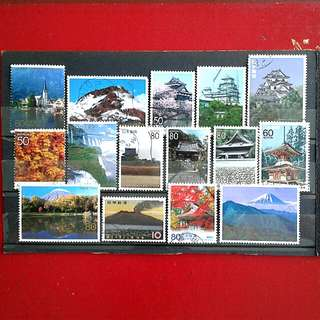 Japanese used stamps#3