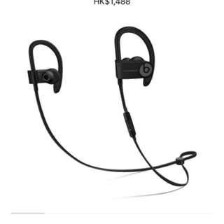 Wireless earphones in black col.