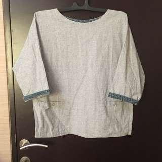 Woman Grey Blouse