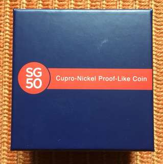 SG50 Cupro Nickel Proof-Like Coin